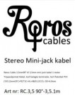 Røros Cable mini jack kabel thumbnail